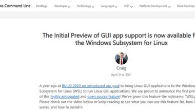 微软 Win10 WSL 已支持运行 Linux GUI 图形界面软件
